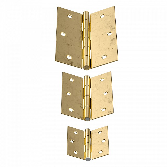 STEEL FLAT HINGES GOLD ITALY